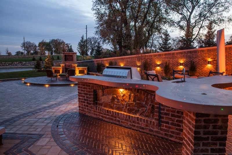 Outdoor Küche Beleuchtung : Erstaunliche outdoor küche beton arbeitsplatte led leuchten im