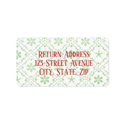 Nordic Pattern Holiday Mailing Label  Pattern Sample Design