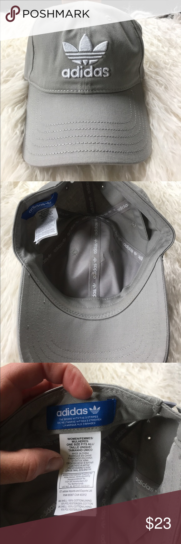 release date: 334d6 4fbb8 Women s adidas hat NWOT. Light gray super cute hat to complete a sporty  outfit adidas