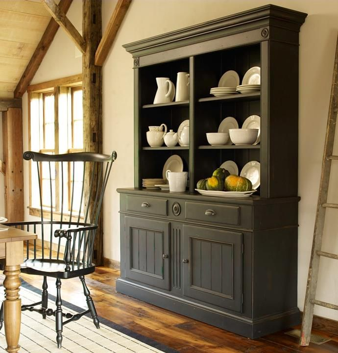 PAINTED HUTCH LOVE THE LOOK Dining Room StorageKitchen RoomsPrimitive