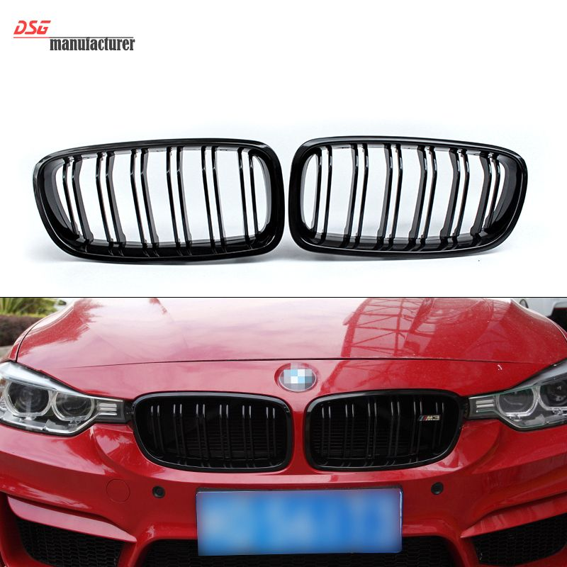 3 series f30 m3 style abs material dual slat front kidney grille 3 series f30 m3 style abs material dual slat front kidney grille grill mesh for bmw 3 series 2012 318i 320i 328i fandeluxe Images