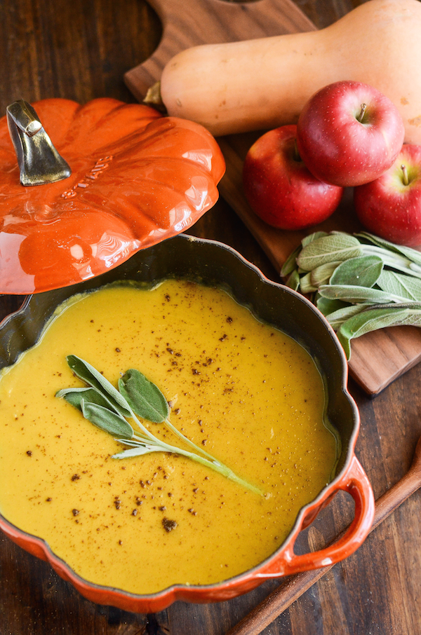 Butternut Squash, Apple & Sage Soup | The Novice Chef Blog