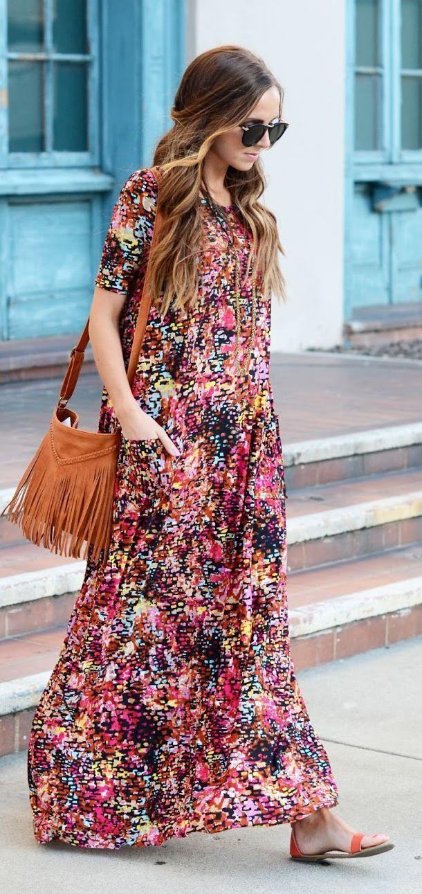 Hochzeitsmode: Das perfekte Outfit für den Gast  Boho maxi dress