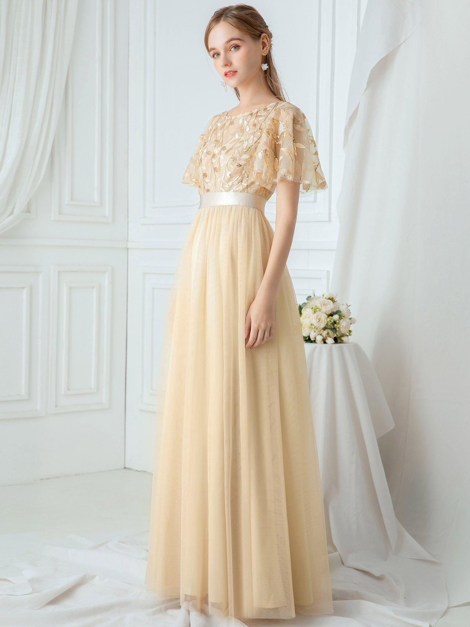 Ever Pretty Ever Pretty Womens Elegant Embroidery A Line Bridesmaid Dresses For Women 00904 Grey Us4 Walmart Com In 2021 Dresses Gold Evening Dresses Evening Dresses [ 2000 x 1500 Pixel ]