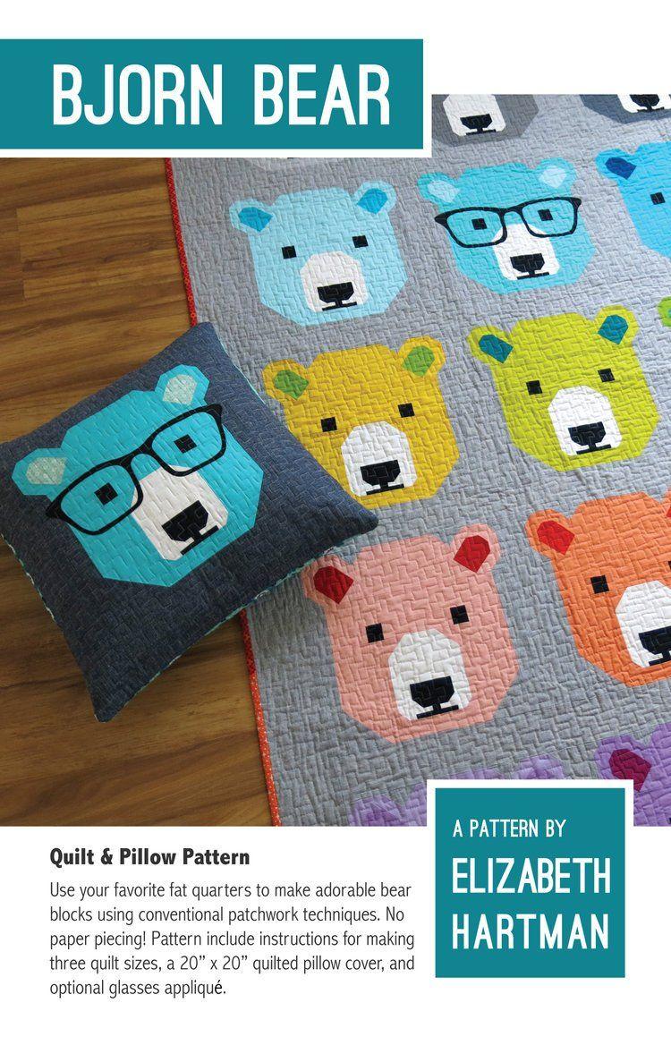 Bjorn Bear Quilt Pattern | QUILTING | Pinterest | Patchwork
