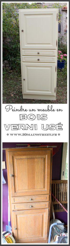 Rénover un meuble en bois verni usé  une armoire pour le salon - Repeindre Un Meuble En Bois Vernis