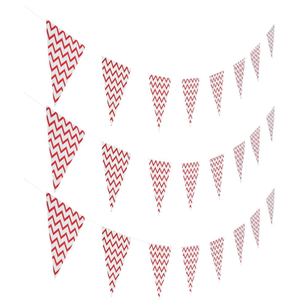 Red chevron pennant banner pennant banners banners and products