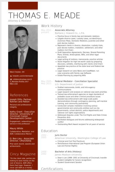 Associate Attorney Cv Example Modelos De Curriculum Vitae Curriculum Vitae Tipos De Curriculum