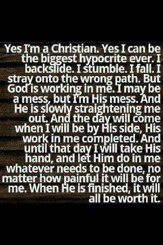 Yes I'm a Christian.