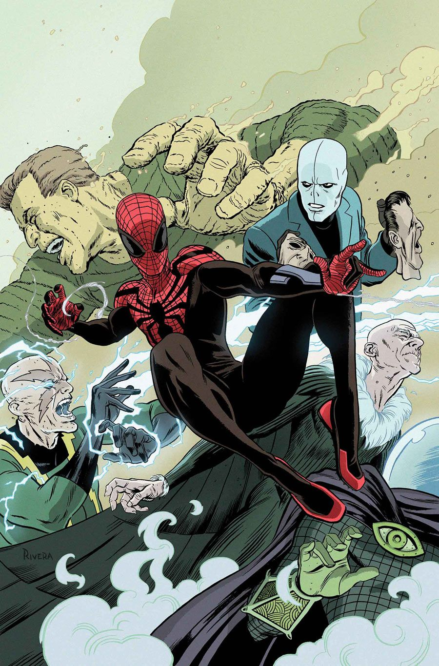 #Superior #Spiderman #Fan #Art. (Superior Spider-Man Team Up Vol.1 #7 Cover) By: Paolo Rivera. (THE * 5 * STÅR * ÅWARD * OF: * AW YEAH, IT'S MAJOR ÅWESOMENESS!!!™)[THANK Ü 4 PINNING!!!<·><]<©>ÅÅÅ+(OB4E)