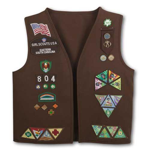 Brownie Vest Patch Placement