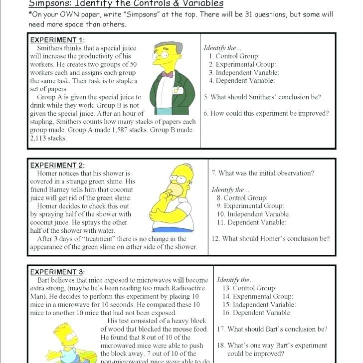 Scientific Method Worksheets For Grade 7 Worksheet School