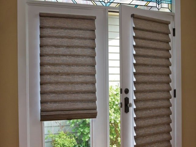 Vignette® Modern Roman Shades on French Doors & Vignette® Modern Roman Shades on French Doors | Door treatments ... Pezcame.Com