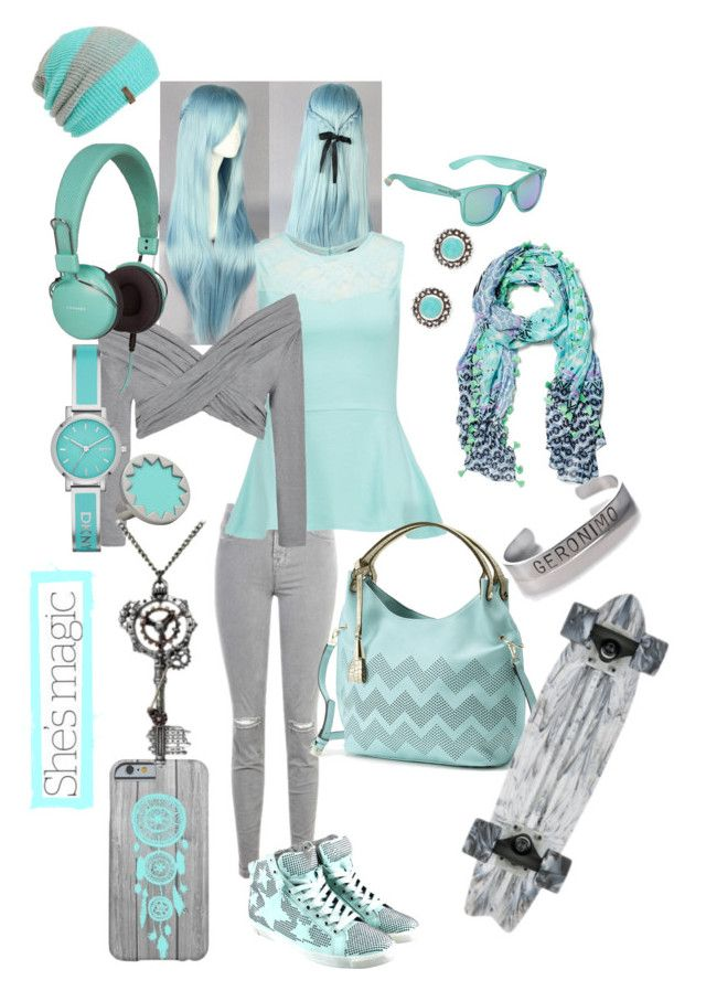 """Silver and Blue"" by syfymouse ❤ liked on Polyvore featuring J Brand, even&odd, Ally Fashion, Mellow World, Crosley, Accessorize, House of Harlow 1960, DKNY, Neff and Polaroid"