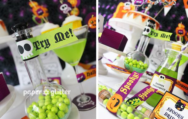 04_halloween+party+decoration+ideas+papercrafts+kit+bat+vampire+ - kids halloween party decoration ideas
