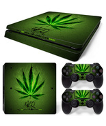 Marijuana PS4 Slim Skin for PS4 Slim Console and Controllers
