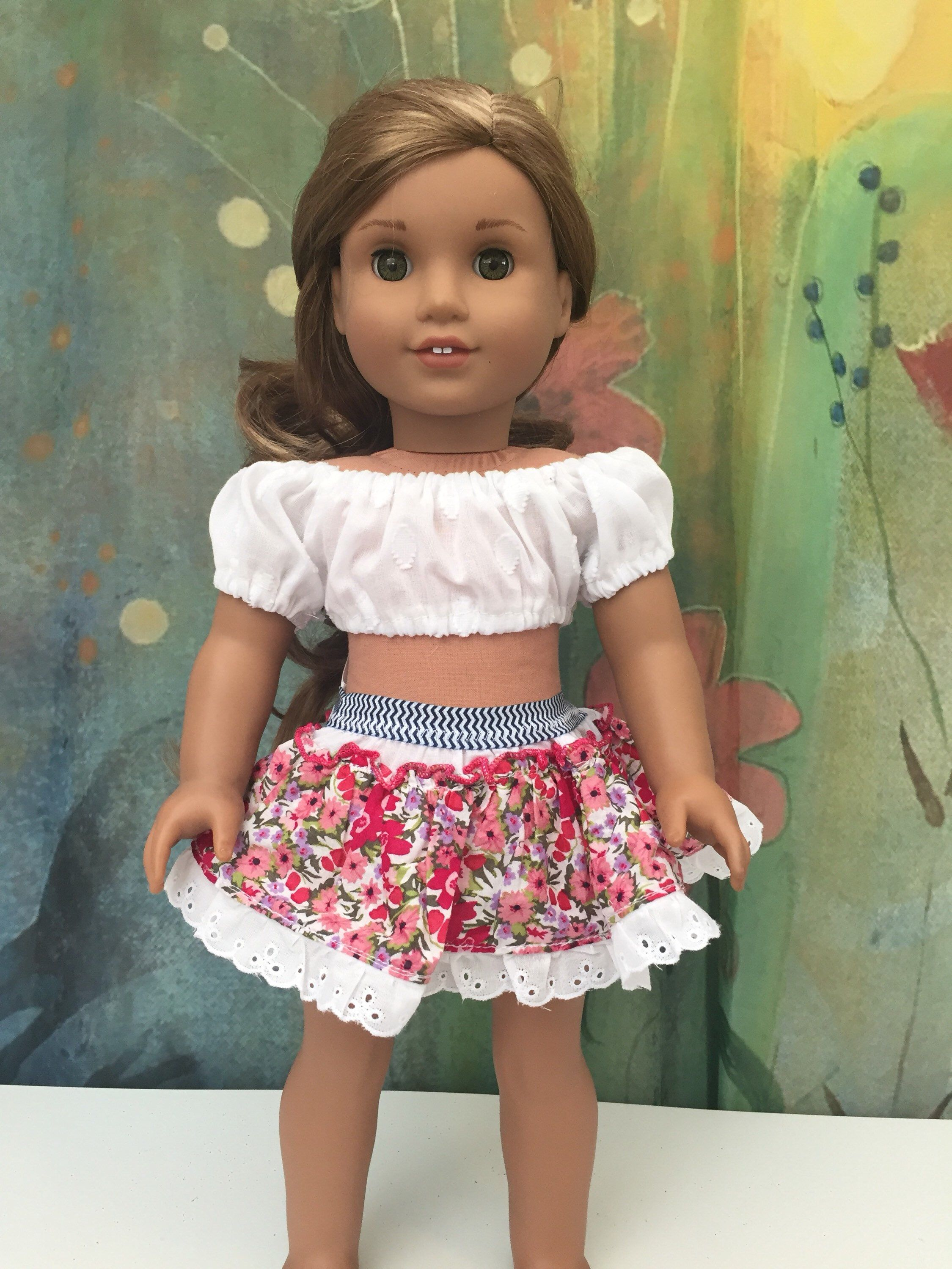 Pink Crinkle Skirt Doll Clothes 18 in Doll Clothes Fits American Girl