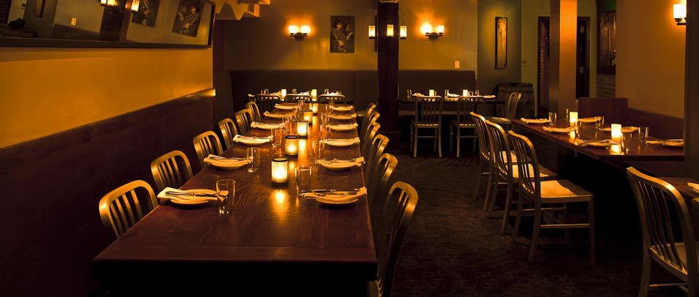 Amazing Capacity: The Private Downstairs Dining Room Of Beretta Is Available For  Parties With Sconces, Exposed Brick, And Dark Wood Wainscoting Giving The  Place A ...