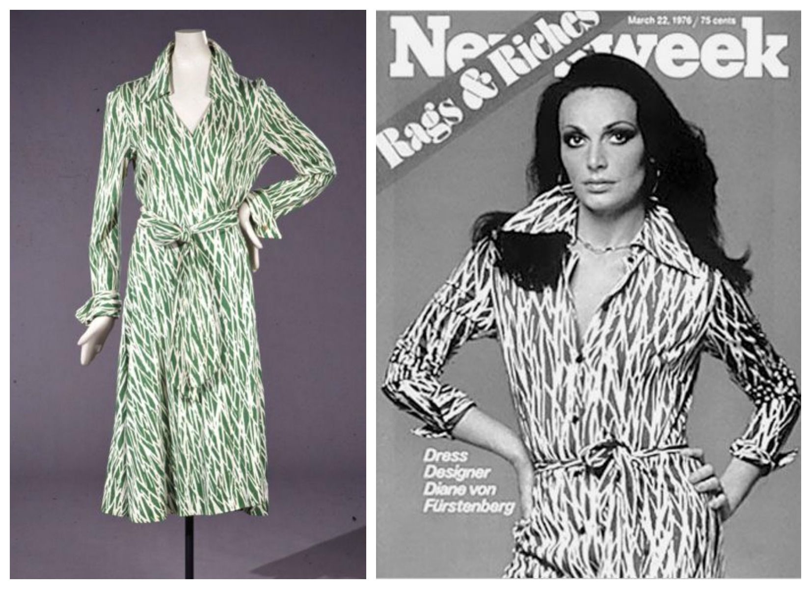 Diane Von Furstenberg The Wrap Dress Eared On Cover Of Newsweek In 1976 Wearing Her Signature Photo