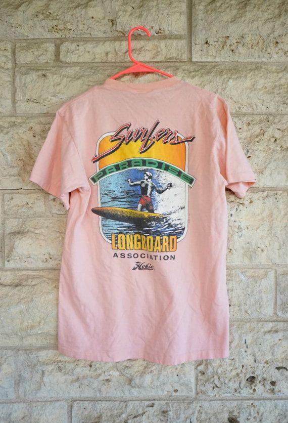fbf949a49177 Hobie T-shirt Surf T-shirt Longboard Vintage 90s T shirt Surfer ...