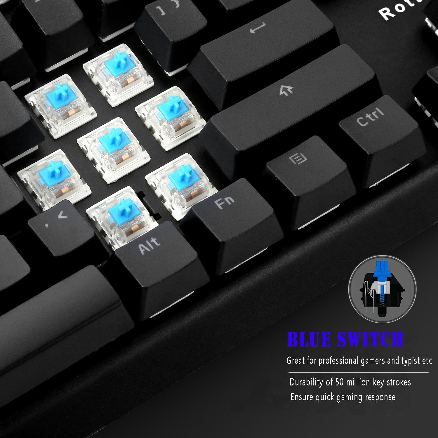 940399923e0 RGB Mechanical Keyboard, Rottay 16.8 Million RGB Backlit Wired Mechanical  Gaming Keyboard with Blue Switches 104-Key Anti-Ghosting and Fully  Programmable ...