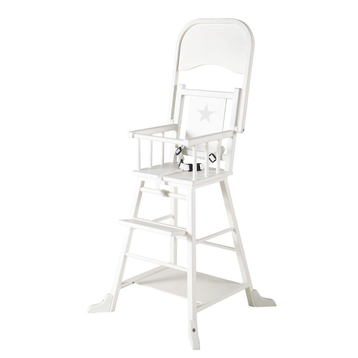chaise haute pour bebe blanche songe