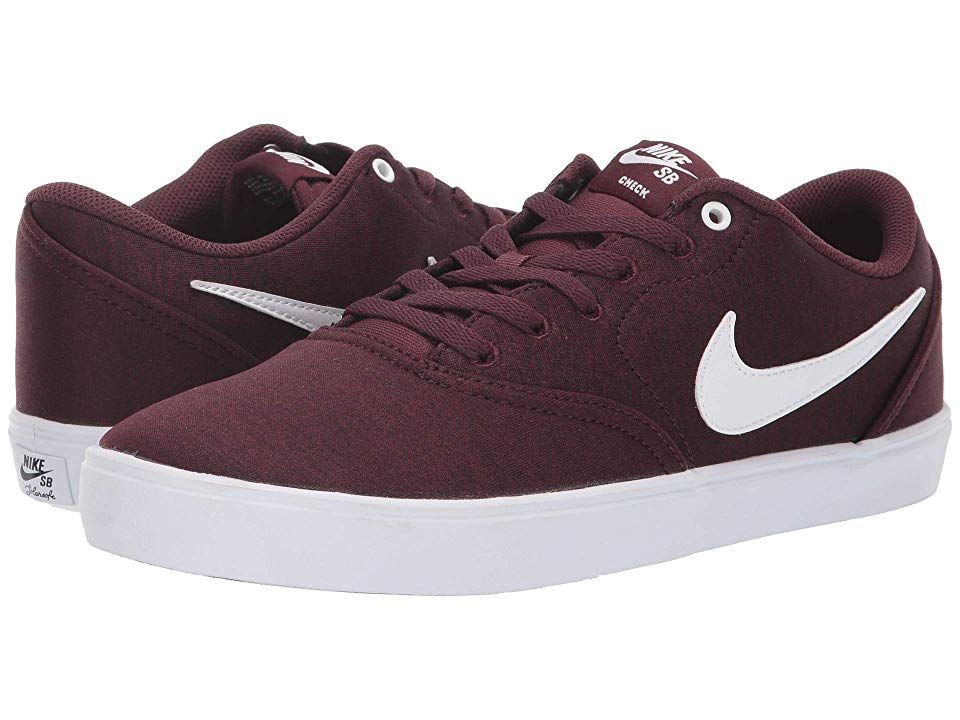 84e0598c0 Nike SB Check Solar Canvas Premium (Burgundy Crush White Black) Men s Skate  Shoes. You re more than a pawn in the skate game with the durable and  stylish ...