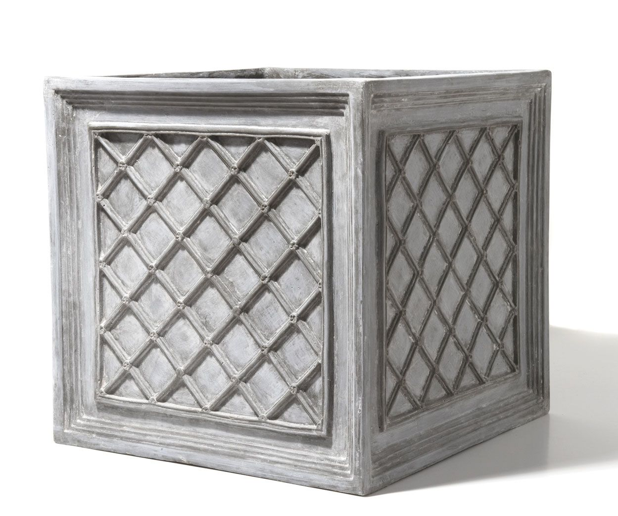 THE ICONIC STYLE OF THESE ORNATE IRON GRID PLANTERS REPRESENTS A FORM THAT DATES BACK TO THE TURN OF THE CENTURY. THE ORIGINALS, WHICH WERE ...