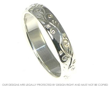 Wedding Band Engraved Patterns | Engraved sterling silver wedding band. ~ Harriet Kelsall Jewellery ...