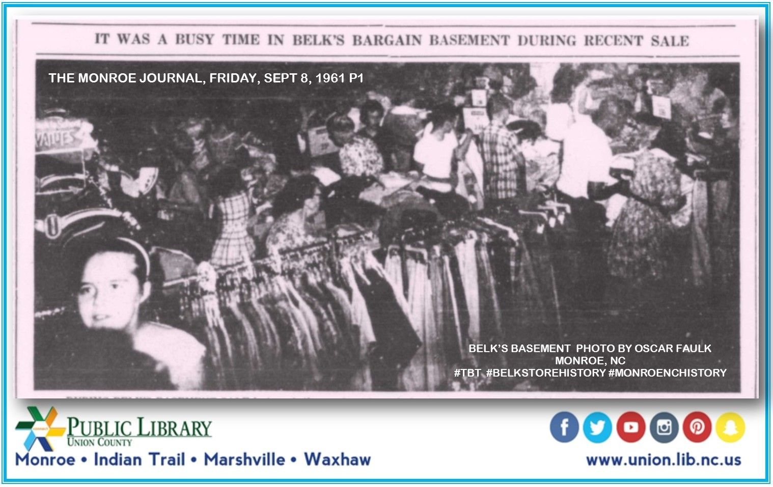 Tbt Belks Bargain Basement Was The Place To Go In Its Day This - Bargain basement stores