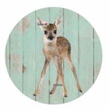 190 Button Deer standing timber mint