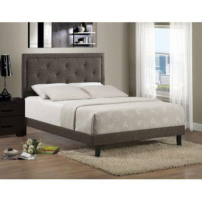 Varick Gallery Bergenfield Upholstered Panel Bed