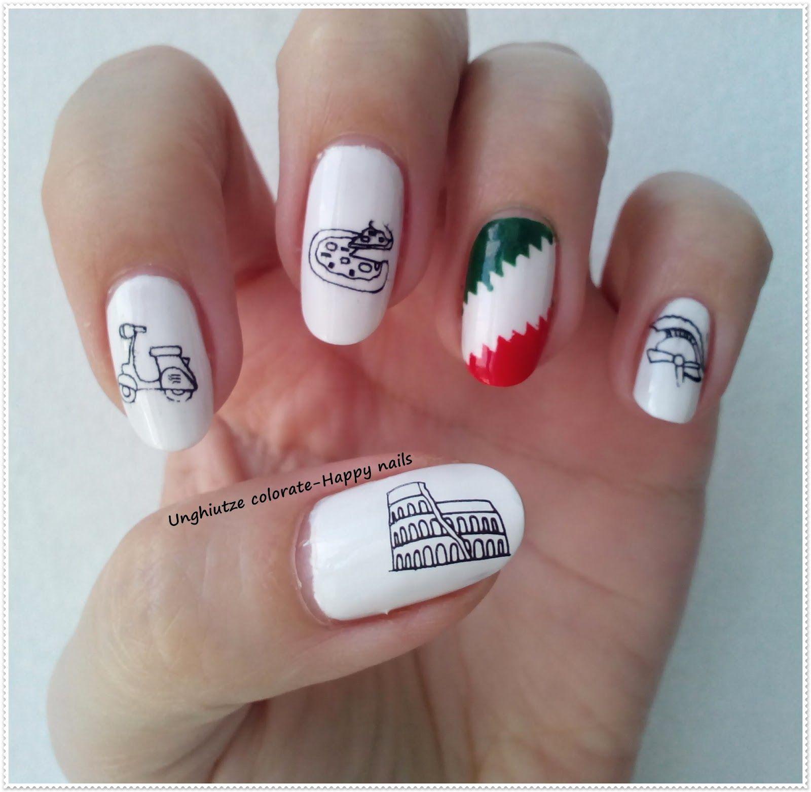 Unghiutze colorate-Happy nails: Alphabet nail art challenge - Letter I #nailart #nails #mani