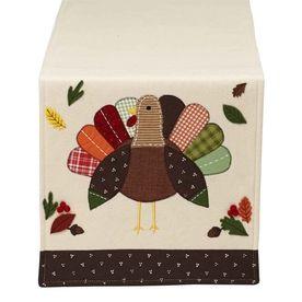 Design Imports Polyester Turkey Table Runner Indoor Thanksgiving Decor