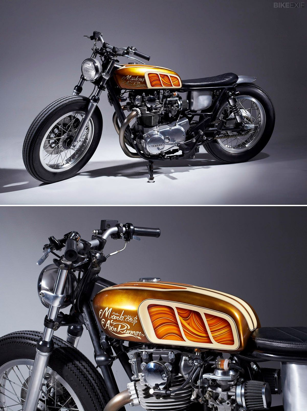 The base bike was a 1980 xs650 in a very poor state cylinders where - Honda Cb125 Custom Motorcycle Motobike Favors N Ideas Pinterest Custom Motorcycles Honda And Honda Cb