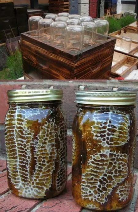 How to make bee hive in a jar. | Backyard diy projects ...