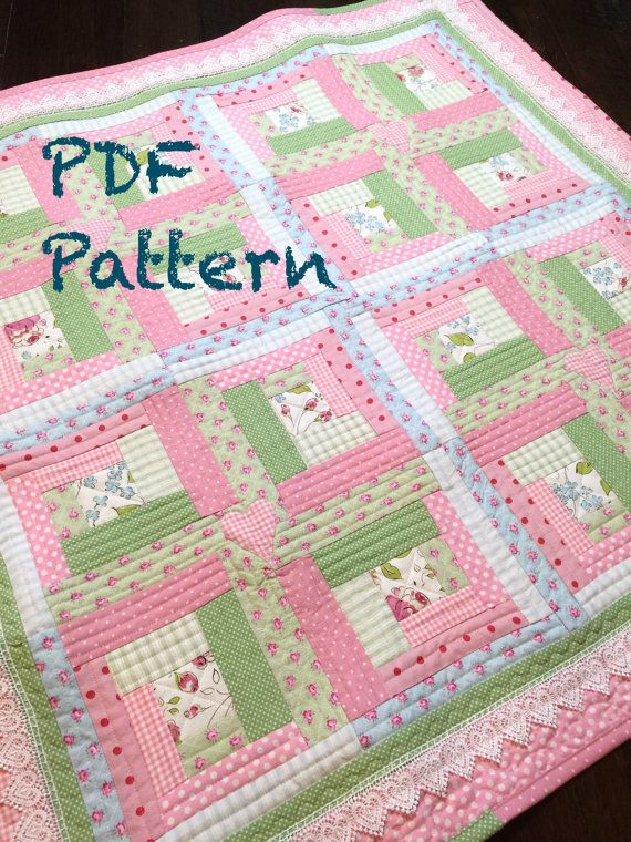 Chic baby girl quilt pattern by christine j designs enjoy stitching this adorable vintage modern