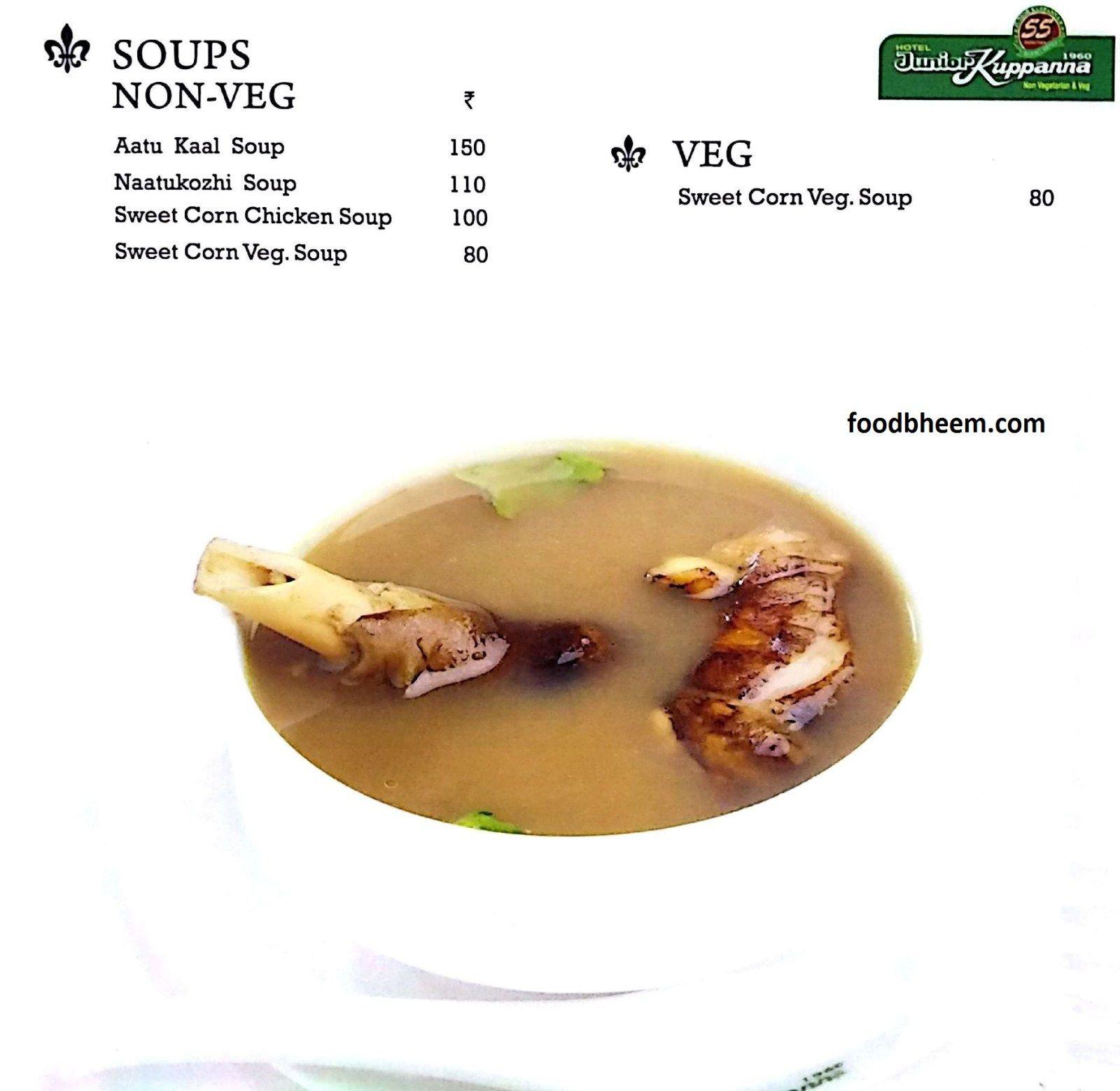 Junior Kuppanna Hitech City Menu Corn Chicken Veg Thali Indian Dishes