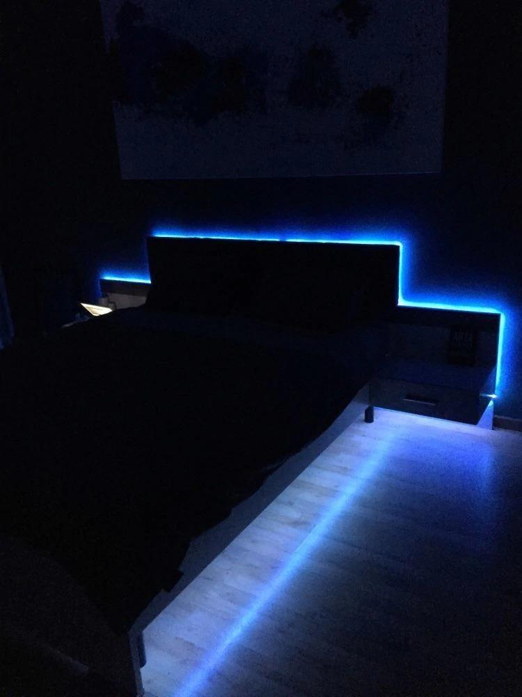 Pin By Pedro Martinez On Cuartos Futuristic Bedroom Led Strip Lighting Strip Lighting