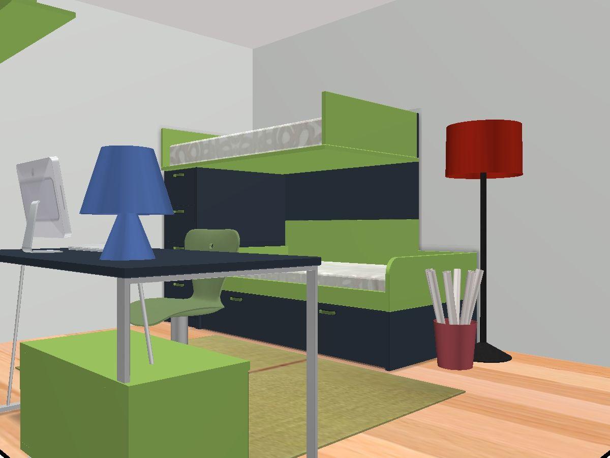 dormitorio con cama alta o litera en prespectiva este...pequeños grandes espacios..... by @MOBLES CAMBRILS en Cambrils, Tarragona, Catalunya, Spain.