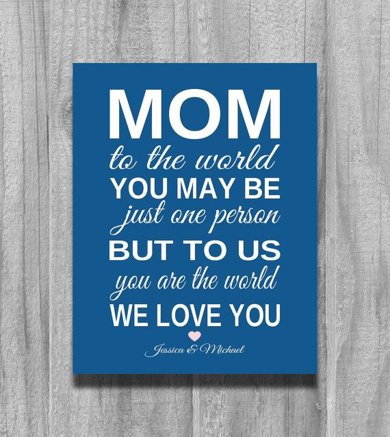 Gift for Mom Personalized CHRISTMAS GIFT | Inspirational Quotes ...