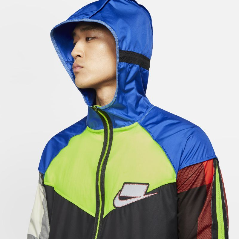 Nike Mens Flicker Hurricane Reflective Running Jacket