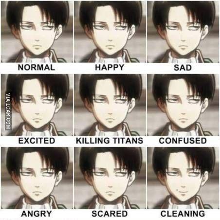 9 expressions of captain levi ~ attack on titan ~ shingeki no kyojin
