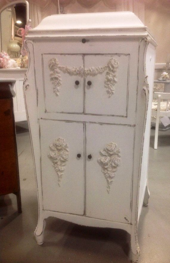 Upcycled Shabby Chic Victrola Cabinet Painted By Pinkpaperrose