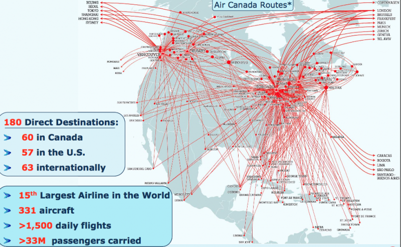 Maps Air Canada Route Map Blog With Collection Of All: Air Canada Flight Map At Infoasik.co