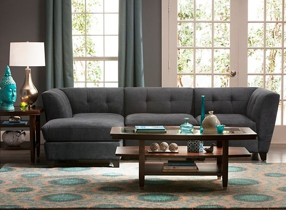 Microfiber Modular Sofa | Sectional Sofas | Raymour And Flanigan Furniture  U0026 Mattresses