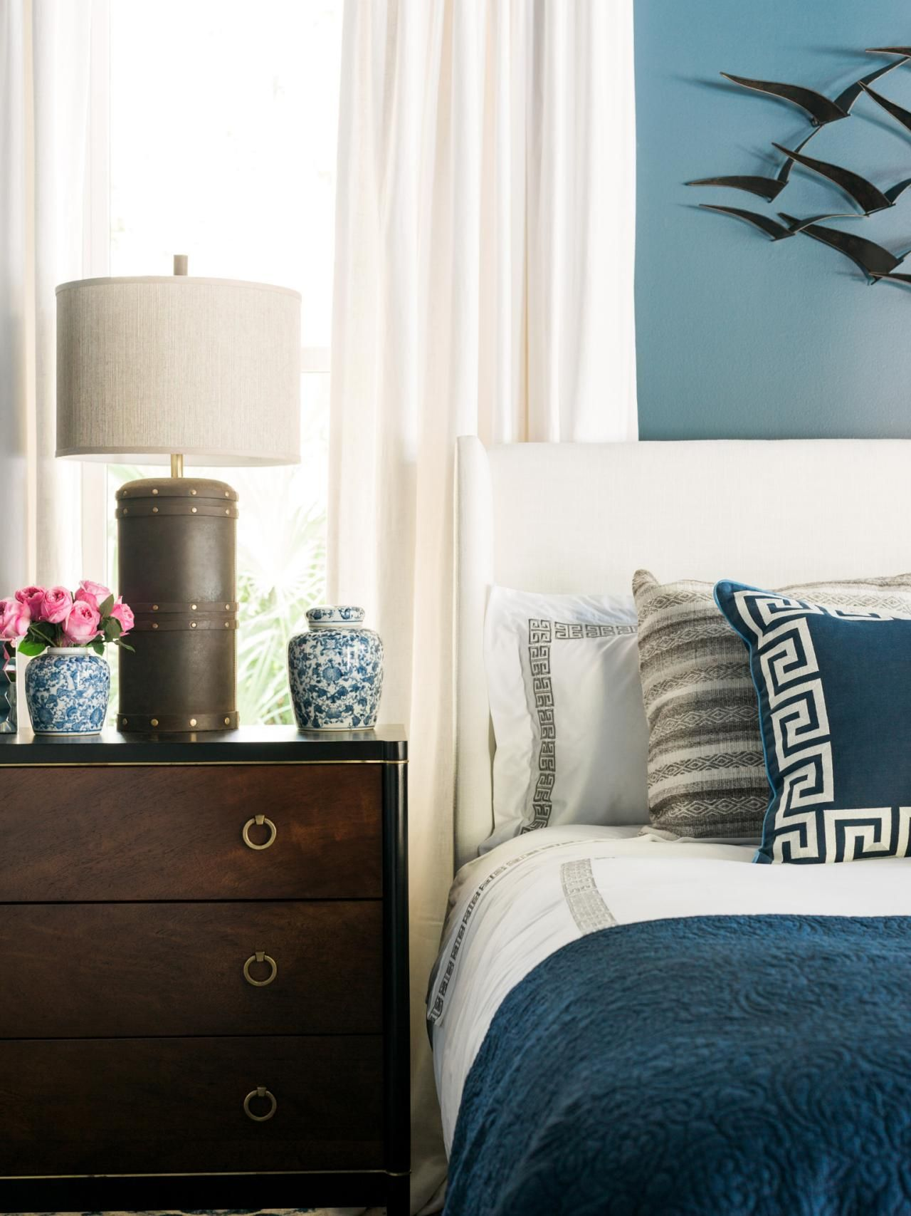 Master bedroom navy blue  There are plenty of eyecatching rooms and spaces in this yearus