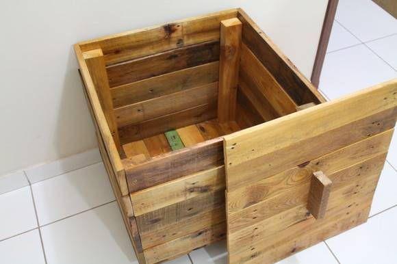 Baú em madeira   ARTE EM DEMOLIÇÃO   Elo7