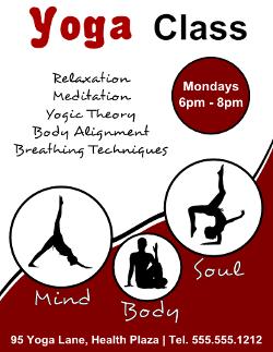 yoga class flyer template kids yoga pinterest yoga yoga flyer