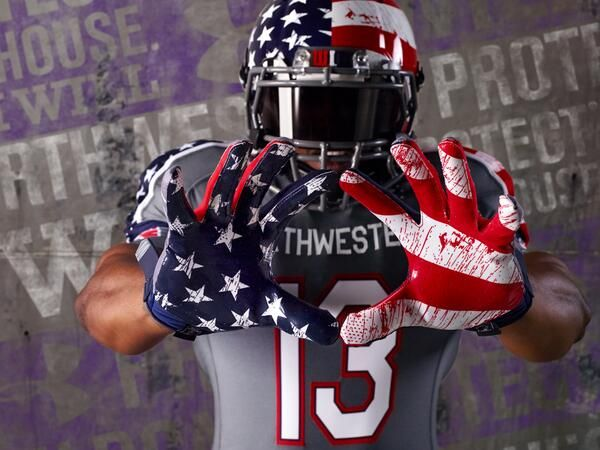 Along With Hawaii And Boston College Previous Posts Northwestern Will Also Put On Some Wou American Flag Football College Football Uniforms Football Uniforms